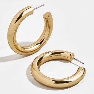 Bauble Bar Gold Vanessa Hoop Earrings